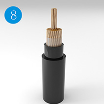 Copper, XLPE Insulated Flame Retardant Flexible Cable